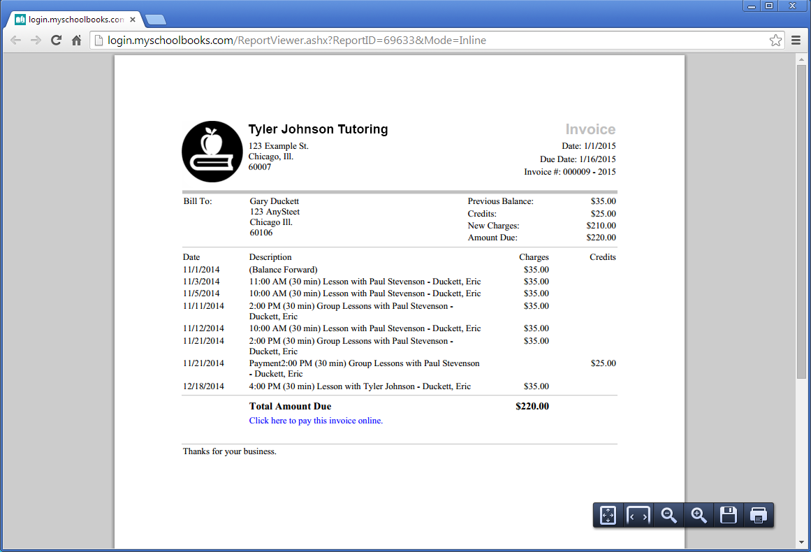 Customized Invoices