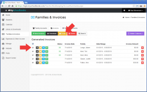 Creating invoices in bulk - Step 3