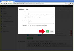 Creating a custom contact form - Step 3