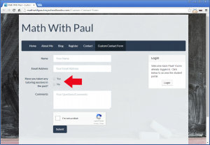 Creating a custom contact form - Step 4