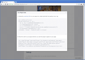Embedding a Facebook widget in your My School Books hosted website.